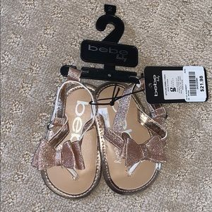Baby Sandals Rose Gold 3-6months